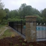"54"" tall ornamental aluminum pool fence"